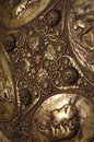 Medieval shield detail ornament Royalty Free Stock Photo
