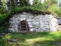 Medieval stone cold storage Royalty Free Stock Photo