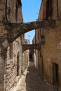 Medieval street of knight greece rhodos island old town street of the knights photo now embassy street greece rhodos island Royalty Free Stock Photography