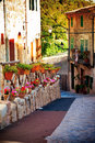 Medieval street in mallorca valldemossa village spain Stock Photos