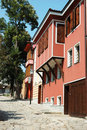 Medieval street of old Plovdiv,Bulgaria Royalty Free Stock Images