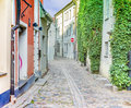 Medieval street in old Riga, Latvia Stock Image