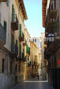 Medieval street of Palma Royalty Free Stock Photo