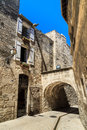 Medieval street in Southern France Royalty Free Stock Image