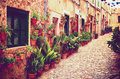 Medieval street in valdemossa village mallorca spain Royalty Free Stock Photos