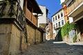 Medieval street in Veliko Tarnovo, Bulgaria Royalty Free Stock Photo