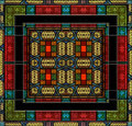 Medieval style stained glass or tile Stock Image
