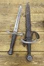 Medieval swords Stock Photos