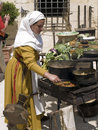 Medieval Tavern Cooking Stock Photo