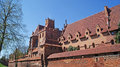 Medieval teutonic castle in malbork the old gothic poland Stock Photography