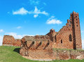 Medieval teutonic castle in radzyn chelminski poland Royalty Free Stock Images