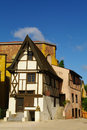 Medieval timber framed house Royalty Free Stock Photo