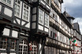 Medieval timberframe houses at the historic centre of Marburg Royalty Free Stock Photo