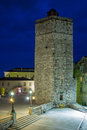 Medieval tower.Pet Bunara Square. Zadar. Croatia. Royalty Free Stock Photo