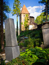 Medieval tower sighisoara transylvania romania Royalty Free Stock Image
