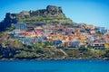 Medieval town castelsardo sardinia italy beautiful on the north coast of island Stock Images