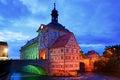 Medieval town hall on the bridge Bamberg Bavaria Royalty Free Stock Photo