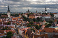 The medieval town of tallinn view from observation platform Royalty Free Stock Photography