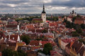 The medieval town view of of tallinn from observation platform Royalty Free Stock Photos