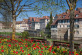Medieval townscape of Schwaebisch Hall in Germany Royalty Free Stock Photo