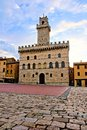 Medieval Tuscan town hall Royalty Free Stock Photo