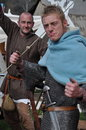 Medieval viking warriors ready for battle Royalty Free Stock Photo