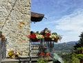 Medieval village near la spezia called follo alto Royalty Free Stock Photos