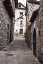The medieval village of Torla in Spain pyrinees of Aragon Royalty Free Stock Photo