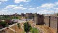Medieval walls and towers of diyarbakir turkey Stock Photography