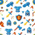 Medieval weapons seamless cartoon background