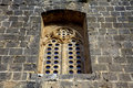 Medieval window in Bellapais Abbey Stock Photography
