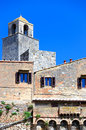 Mediival bell tower, San Gimignano, Tuscany, Italy Royalty Free Stock Images