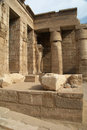 Medinet Habu ancient Egypt temple Royalty Free Stock Image