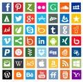 Medios iconos sociales Imagenes de archivo