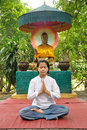 Meditate lady Stock Photo