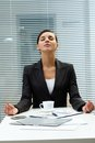 Meditating employer Royalty Free Stock Photography