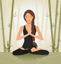 Meditating woman Royalty Free Stock Photos