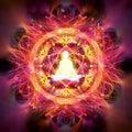 Meditation abstract illustration
