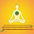 Yin yang meditation on bamboo sticks