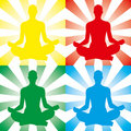Meditation illustration Royalty Free Stock Image