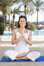 Meditation lady Stock Photography