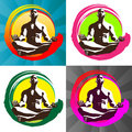 Meditation Logo Royalty Free Stock Photo