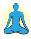 Meditation logo Royalty Free Stock Photo