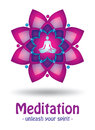 Meditation logo design Royalty Free Stock Photography