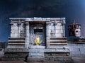 Meditation at night in Hampi Royalty Free Stock Photo