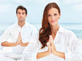 Meditation in unison Stock Image