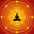 Meditation - vector illustration