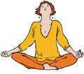 Meditation woman meditating in lotus position Royalty Free Stock Photography