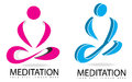 Meditation or yoga 3D logo Royalty Free Stock Photo