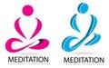 Meditation or yoga 3D logo Royalty Free Stock Photo